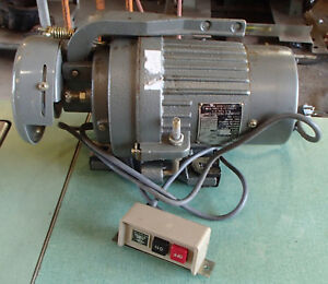White Diamond Stk 5 Industrial Clutch Motor W corded Switch Used Take Out Tested