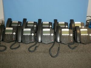 Lot Of 10 Polycom Soundpoint Ip 450 2201 12450 001 Office Phones