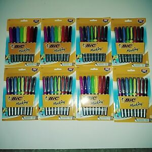 Bic Marking Permanent Marker Fine Point Assorted Colors 8 pack Lot Of 8 New