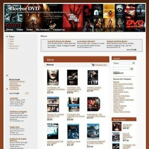 Established Horror Movie Dvd Store Online Business Website For Sale Free Domain