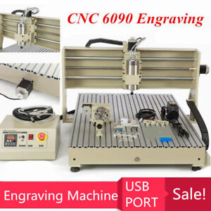 Usb Four Axis 6090 1500w Cnc Router Drilling Milling Machine Desktop Durable