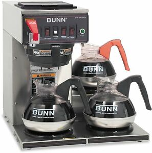 Bunn Cwtf15 3 3l 12 cup Automatic Commercial Coffee Brewer 3 Warmers