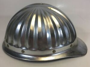 Vintage Aluminum Hard Hat Construction Work Mining Mine Saftey Adjustable