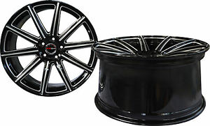4 Gwg Wheels 20 Inch Staggered Black Mill Mod Rims Fits Ford Shelby Gt 500 07 17