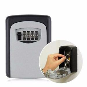 Key Lock Box Wall Mount Storage Safe Combination Case Security Home Metal Holder
