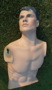 Vintage Hindsgaul Mannequin Male Man Upper Body Only