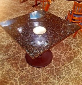 Granite Table With Base For Restuarant Or Cafe