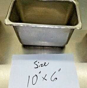 Stainless Steel Steam Table Hotel Pan 10 x6 Size Vollrath 6 Items Per Order