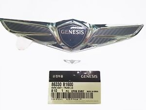 Rear Trunk 3d Carbon Wrap Wing Emblem Badge 1pc Free Gift For Genesis G80 2017