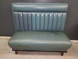 Blue Wooden Frame Double Booths W blue Cushion
