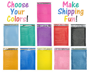 8 5x12 11 Colors Poly Bubble Mailers Padded Shipping 8x12 Mailing Envelopes 2