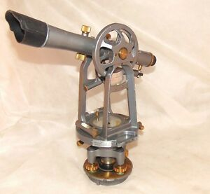 David White 8202 Transit With Compass Tripod Box Theodolite Level Vintage