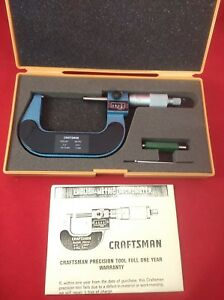 Vintage Craftsman English metric Digital Micrometer 2 3 50 75 Mm Nib Manual