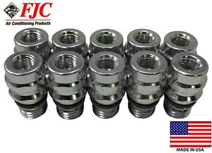 10pc A C Service Schrader Valve High Side R 134a Port Adapter Oe Style Fitting