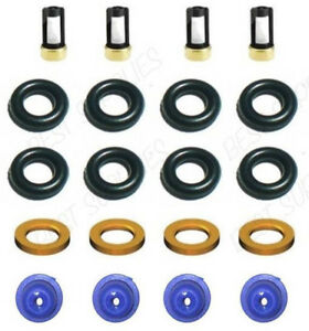 Fuel Injector Service Repair Kit Seals Filters Pintle Caps Ford Turbo