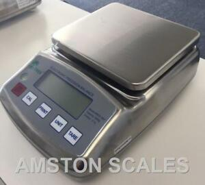 Digital Scale Balance 6 000 X 0 1 Gram Pharmacy Ct Gn Ozt Dwt Brand New Steel E2