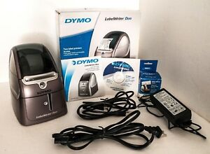 Dymo Labelwriter Duo Model 93105 Complete W Box Driver manual cords Works