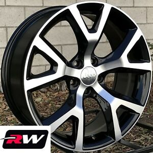 18 Inch Rw Wheels For Jeep Cherokee 18x7 5 Black Machined Rims 5x110 Trailhawk