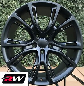 Jeep Grand Cherokee Oe Factory Replica Wheels 22 Inch Matte Black 22x9 Rims