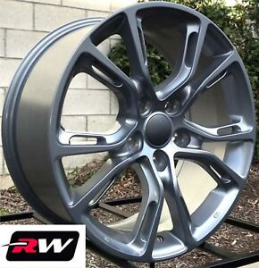 17 Inch Rw Wheels For Jeep Grand Cherokee Spider Monkey 17x8 Silver Gray Rims