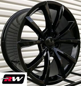20 Inch Rw Wheels For Jeep Grand Cherokee Gloss Black 20x9 20x10 Staggered Rims
