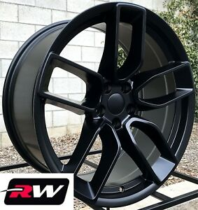 20 Rw Wheels For Chrysler 300 Satin Black Rims Srt Hellcat Widebody Challenger