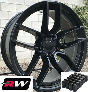 20 Rw Wheels For Chrysler 300 Gloss Black Rims 2018 Challenger Srt Style 20x9