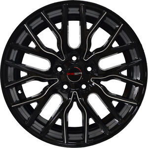 4 G43 Flare 18 Inch Black Laser Mill Rims Fits Acura Integra Type R 2000