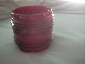 Boat Red Glass Light Lantern Beacon Lens Maritime Railroad Train Heavy Nautical