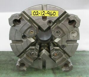 Warner Swasey 12 4 Jaw Independent Manual Chuck A2 8 Mount M 1608 0
