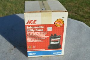 Ace Submersible Utility Pump 1 6 Hp Up To 950 Gpm