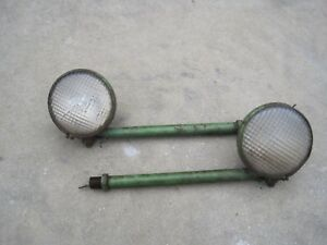 John Deere B Late Styled Front Head Lights And Bars