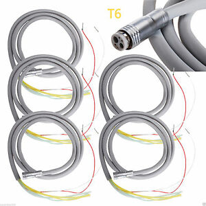5 Dental 6 hole Silicone Hose Tube For Led Fiber Optic Handpiece Turbine