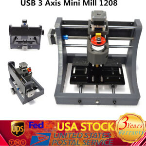 3axis Mini Usb Cnc Router Wood Carving Engraving Pcb Milling Machine drill Bits