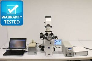 Zeiss Axio Observer Microscope Inverted Motorized Fluorescence Phase Contrast