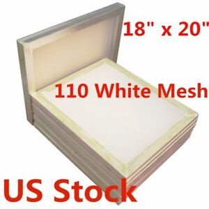6pcs 18 X 20 Aluminum Frame Silk Screen Printing Screens 110 Mesh Us Stock