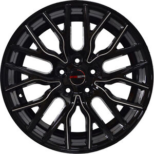 4 Gwg Wheels 18 Inch Black Laser Mill Flare Rims Fits Range Rover Evoque Se 2012