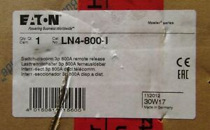Eaton Moeller Ln4 800 I 3 Pole 800 Amp Disconnect Switch Breaker Remote Release