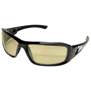 Edge Brazeau Safety Glasses With Yellow Polarized Lens Black Frame