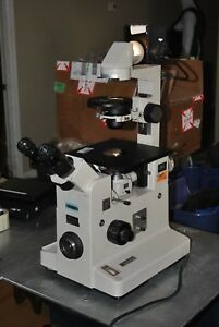 Nikon Inverted Phase Contrast Elwd 0 3 Diaphot Microscope 5 Objective Plan