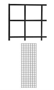 Grid Panel 2 X 6 Set Of 12 Panels Black Retail Display Craft Wire Gridwall