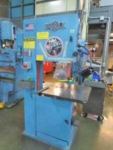 20 Thrt 12 H Doall 2013 v Vertical Band Saw Vari speed 2 Hp 1 Blade