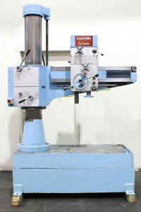3 Arm 9 Col Dia Clausing colchester 3 Radial Drill Power Elevation Of Column