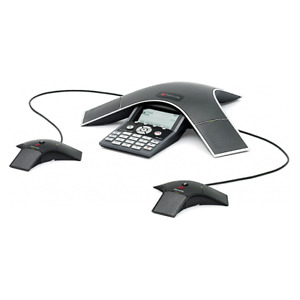 Polycom Ip 7000 Sip Voip Ip7000 Conference Phone W 2x Ext Mics Power Supply