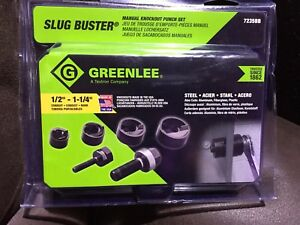 Greenlee 7235bb Slug buster Manual Knockout Kit For 1 2 To 1 1 4 Conduit New