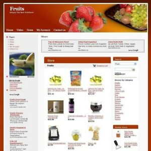 Established Fruit Gourmet Online Store Business Website For Sale Work From Home