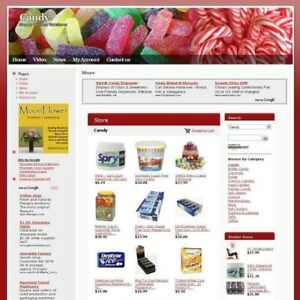 Established Sweet Candy Online Shop Business Website For Sale Free Domain Name