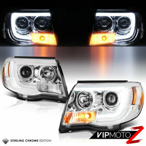 For 05 11 Toyota Tacoma Cyclop Optic Neon Led Drl Tube Projector Headlight Lamp