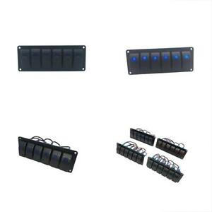 Electronics Rocker Switches Panel 6 Gang Control With Blue Led Light For Rv Boat