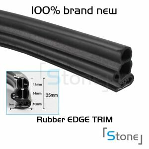 18ft Rubber Seal Door Edge Guard Weather Stripping Decorate Auto Parts Black